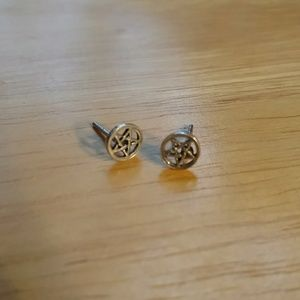 Sterling star earrings